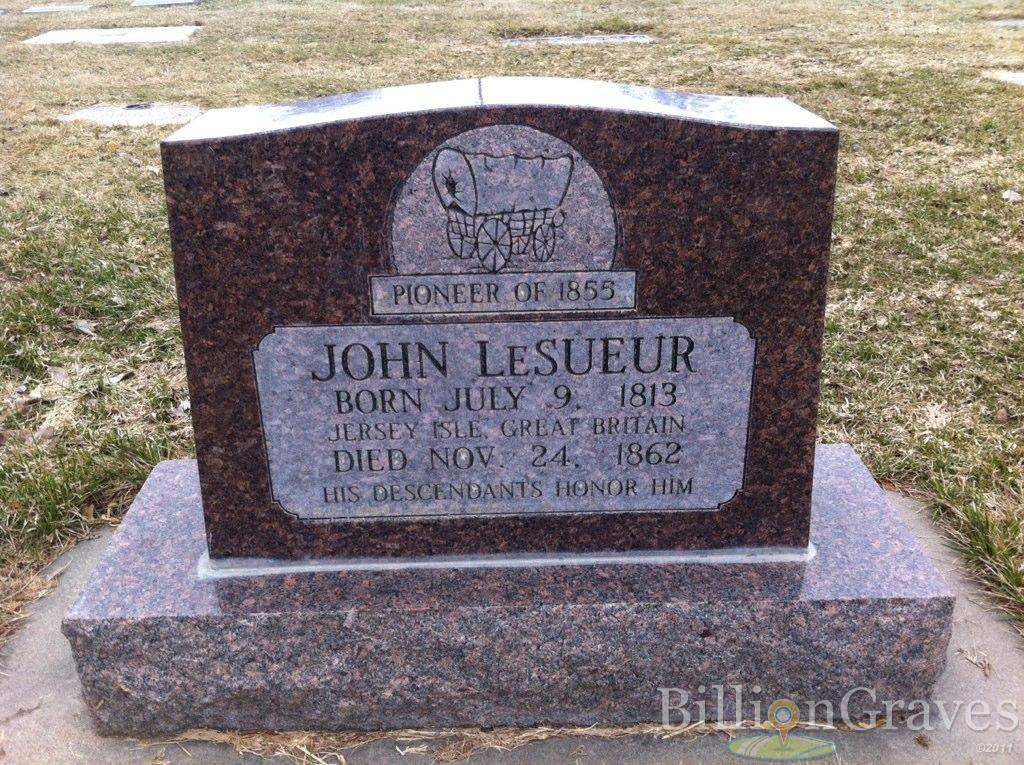 JohnLeSueurHeadStone